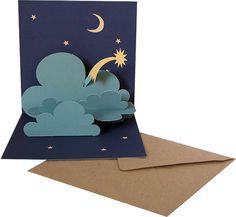 """Der Kartenmacher-Postkarten-Grusskarten-Glückwunschkarten-dreidimensionale Karten-Kartendesign-Faltbriefumschläge-Tierkarten-Blumenkarten-3D-Karten - Popup-Karte Stern Pop-up-Karte """"Stern"""" W 06"""