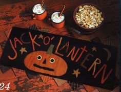 HAUNTED THREADS by Need'l Love - pumpkins, cats, ghosts - fall decorations