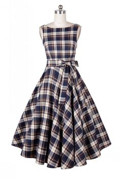 SUNYIK A Line Dress for Women,Plaid Sleeveless Rockabilly Swing Dress Vintage Dresses Small Brown Vintage Dresses, Vintage Outfits, Vintage Fashion, Vintage Clothing, Plaid Dress, Dress Up, Dress Sash, Gingham Dress, Pretty Dresses