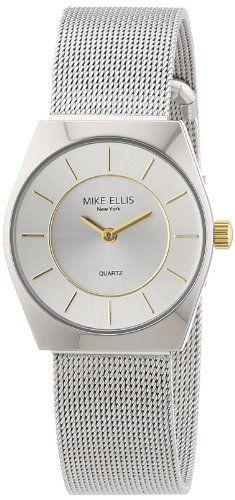 Mike Ellis New York Damen-Armbanduhr XS Analog Quarz Edelstahl L1126ASM/3 - http://uhr.haus/mike-ellis-new-york/mike-ellis-new-york-damen-armbanduhr-xs-analog-3