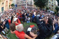 Piazza Alimonda, #Genova, il ricordo di Carlo Giuliani.