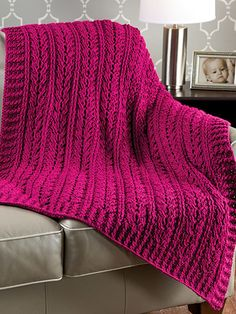 "Wrap love and warmth together in this stunningly elegant and softy textured blanket. This e-pattern was originally published in the Winter 2014 issue of Crochet! magazine. Size: 41"" x 50"". Made with medium (worsted) weight yarn and size I/9/5.5mm hook. Skill Level: Experienced"