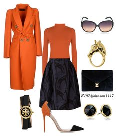 """Getting The Job Done"" by k1974johnson1117 ❤ liked on Polyvore featuring WearAll, Orla Kiely, Gianvito Rossi, Hermès, Fornash, Trina Turk LA, Tory Burch and Dsquared2"
