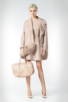 Oversize coat in double wool and fur inserts - Ermanno Scervino