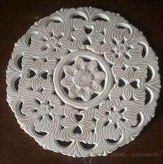 Wandornament weiß 38,7 cm Shabby Holzdeko Wandbild Wanddeko Bild Ornament Indien | eBay