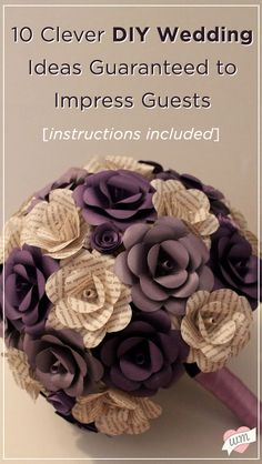 101 handmade days diy book page flowers flowers books and craft 10 diy wedding ideas guarenteed to impress your guests paper flower mightylinksfo