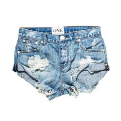 DENIM SHORTS by one teaspoon, hendrix wash, bandits fit $99