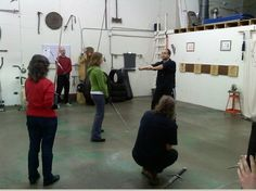 AoC FD Jared Kirby teaching Longsword for Stage & Screen in a California seminar.