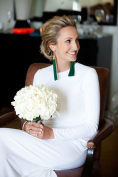 Do you love these greentasseled earrings as much as we do? They were sure to swish happily as this bride danced.