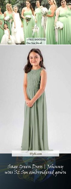 """""""Sage Green Dress, that is the subject of this mounth... Good morning our pretty follower. Our team have compiled these 4 Sage Green Dress pictures from 145+ awesome images for you. While doing this, Our Editors paid attention to the fact that there are decorations that can be popular in 2020 and many more. Please click on the 'Read More' button to see the rest of the content associated to... Bridesmaid Dresses, Prom Dresses, Formal Dresses, Wedding Dresses, Sage Green Dress, Dress Picture, Johnny Was, One Size Fits All, Rest"""