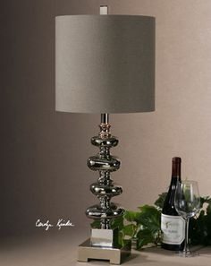 Anoka Nickel Table Lamp - transitional - Table Lamps - Fratantoni Lifestyles