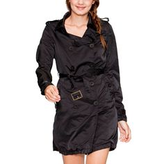 Belted Peacoat Black