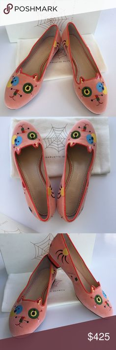 Charlotte Olympia Abstract Kitty Velvet Flats 🌷Please Read the description! Thanks!🌷  Brand new with box and a dust bag Retail: $625 Size: 8B (38) Made in Italy. Fit small  Color may be slightly different bcz of lighting  🌷Price is FIRM unless bundled 🌷NO Trades         🌷NO Holds 🌷All sales are final Welcome product-related questions! You are responsible for your size. Charlotte Olympia Shoes Flats & Loafers