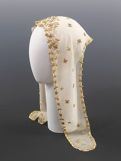 Schiaparelli Evening Headscarf - c. 1938 - by Elsa Schiaparelli (Italian, - Silk, metal - Watsonette Elsa Schiaparelli, 1930s Fashion, Vintage Fashion, Vintage Accessories, Fashion Accessories, Derby, 20th Century Fashion, Italian Fashion Designers, Costume Collection