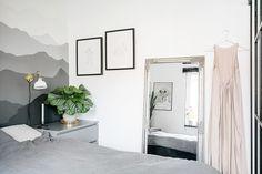 #dormitorio #vintage #hogarhabitissimo en apartamento de 35 metros