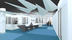 bleuelink - concept interieor design - entrace area
