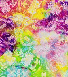 Basan Fashion Apparel Fabric-Knit Fabric Watercolor Haze Bright