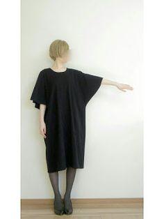 【型紙・作り方】ケープ袖のワンピース