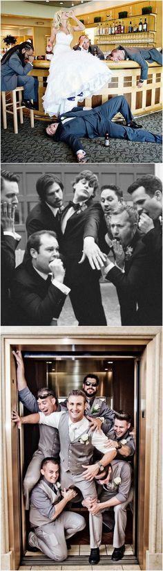 funny wedding photo ideas bride and groomsmen