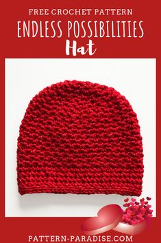 Most current Free of Charge crochet beanie hat Ideas Free Crochet Pattern: Endless Possibilities Hat Chemo Caps Pattern, Beanie Pattern Free, Crochet Beanie Pattern, Crochet Patterns, Hat Patterns, Crochet Stitches, Crochet Adult Hat, Crochet Cap, Single Crochet Stitch