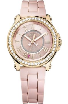 d40976177a6 Juicy Couture Watch - Pedigree Rose Gold Tone with Pink Silicone Strap  1901054