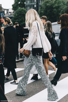 London_Fashion_Week-Spring_Summer_16-LFW-Street_Style-Collage_Vintage-Floral_Trousers-Chloe_Bag- http://FashionCognoscente.blogspot.com