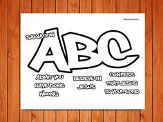printable tract abc plan for salvation | Check out the ...