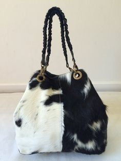 Cowhide Purse! Unique Piece! Cow Hide Handabg. Leather Bag