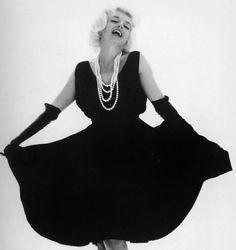 Marilyn in a black gown by Bert Stern