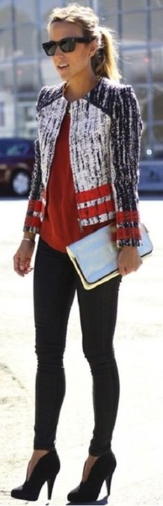 Street Style - Love these colors!