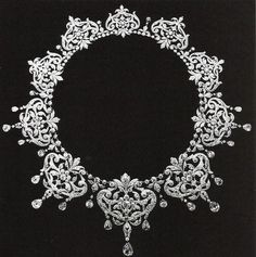 Renaissance style Diamond Necklace, Boucheron, 1905