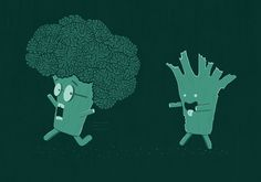 Some-broccoli's already had their brains eaten!