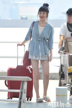 #sulli, #airport, #fashion