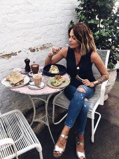 OU MANGER A LONDRES ENTRE FILLES ? #healthy #girly | Caroline Receveur