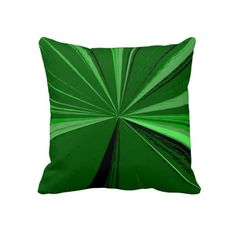 Emerald Green Vanishing Point Pillow Designed by Just For Mom
