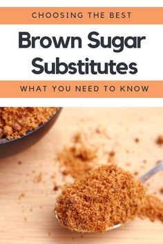 Running out of brown sugar doesnt have to ruin your baking. These brown sugar alternatives can all be used instead. Some rely on ingredients that youll have around the home, while others are low carb options. Substitute For Brown Sugar, Make Brown Sugar, Low Carb Desserts, Low Carb Recipes, Fun Desserts, Brown Sugar Replacement, Cookies Without Brown Sugar, Sugar Alternatives, Food Substitutions