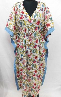 317f25e8c8d Pure Cotton Floral Printed Long Maxi Kaftan Nightwear Coverup Sexy Womens  Gown  fashion  clothing