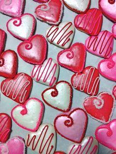 Valentine heart cookies - looks easy enough