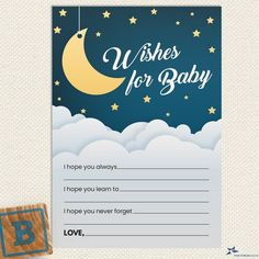 Wishes For Baby Cards, Golden Star, Baby Sprinkle, Over The Moon, Baby Shower Printables, Card Sizes, Irish Symbols, Night Skies, As You Like