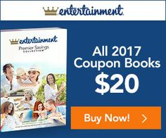Entertainment Book Canada New Years Sale: All 2017 Coupon Books for $20  Save 17% When You Buy 2 http://www.lavahotdeals.com/ca/cheap/entertainment-book-canada-years-sale-2017-coupon-books/160933?utm_source=pinterest&utm_medium=rss&utm_campaign=at_lavahotdeals