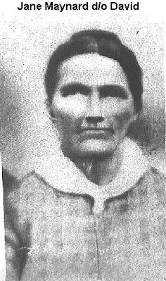 "Jane Maynard Hatfield, wife of Valentine ""Wall"" Hatfield and mother of Granny Nancy Hatfield Steele."