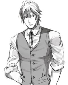 """I'm sure Fredrick gets pretty annoyed with Chrom and Lissa sometimes. And he just thinks """"bocchan, please stop."""""""