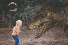 I wonder where I'd get the dinosaurs to edit in 3rd Birthday Pictures, Baby Boy First Birthday, Fantasy Photography, Children Photography, Photoshop Photography, Mother Son Photos, Dinosaur Photo, Toddler Photos, Fantasy Portraits