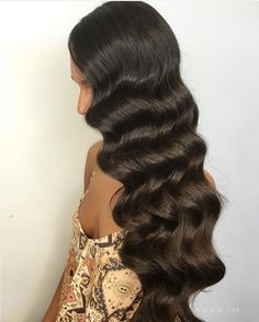 Old Hollywood waves
