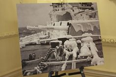 Photo showing conditions about Arctic Convoy ships.