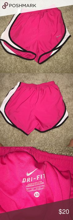 XS Nike running shorts Reposh... Didn't fit me :( I'm so petite that I have to wear kids running shorts lol! These are in perfect condition though! Look and feel brand new. NWOT. Will trade for kids shorts only. Make me an offer :) Nike Shorts