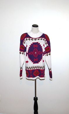 Vintage Sweater Retro Print by ChristmasVintage on Etsy, $18.00