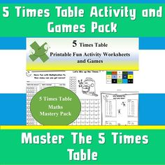 Multiplication Book Activity Pack/ 5 Times Tables/Answers Included/Worksheets For Children/ AND 2 3 Times Tables, Times Tables Worksheets, Multiplication Games, Activity Sheets, Book Activities, Kids Learning, Workplace, Have Fun, Printables