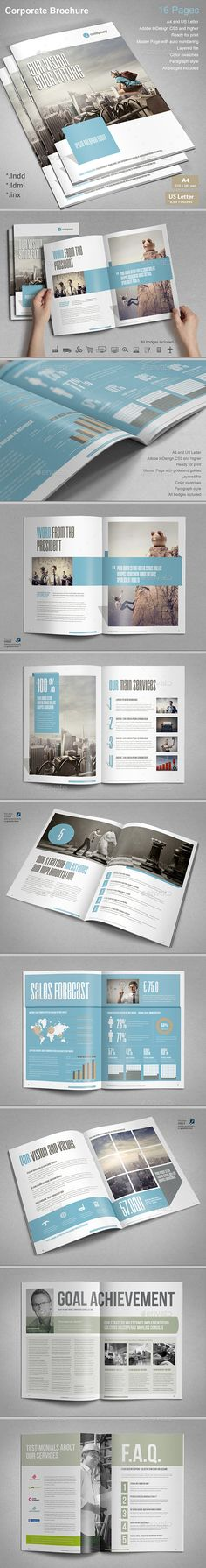 Corporate Brochure Template #design Download: http://graphicriver.net/item/corporate-brochure-vol2/12905122?ref=ksioks
