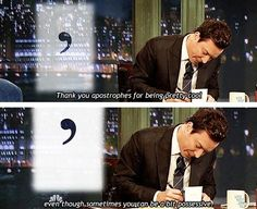 Thank you, Jimmy Fallon, for being a grammar nerd. Grammar Jokes, Bad Grammar, Grammar Tips, Look Here, Jimmy Fallon, I Love To Laugh, Just For Laughs, Laugh Out Loud, Puns